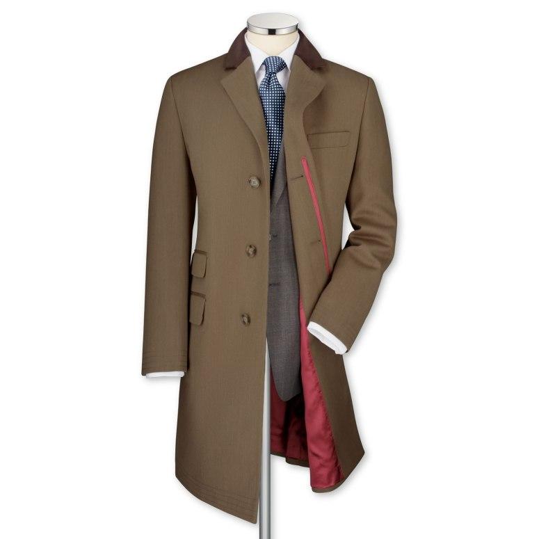 Fawn Covert Coat, Charles Tyrwhitt